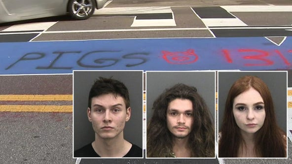 Four arrested for vandalizing 'Back the Blue' mural in Tampa, police say