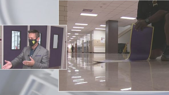 Ball High School reveals plan for social distancing in hallways