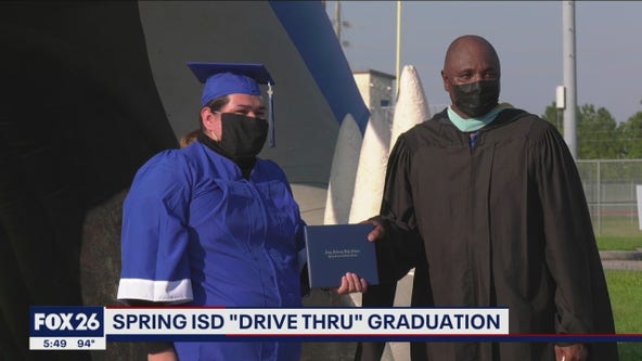 Spring ISD hosts 'drive thru' graduation ceremony for students