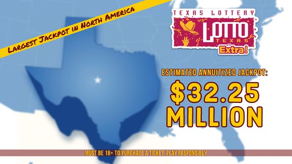 Texas Lottery jackpot grows to largest jackpot prize in North America