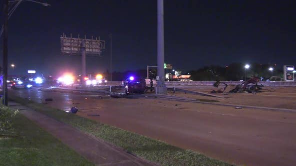 Police: Man drove away after being shot and then crashed on Gulf Freeway