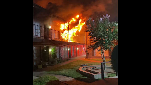Three families displaced following overnight fire at West Houston apartment complex