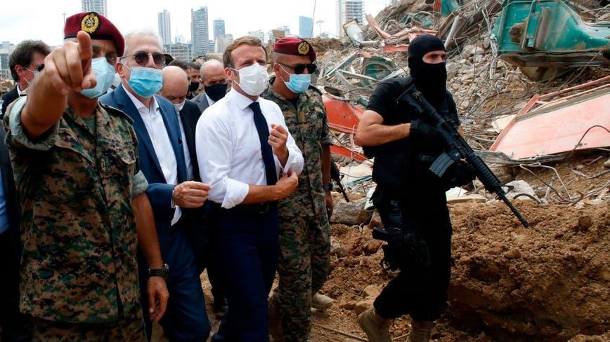 Lebanese vent fury at leaders over blast as Macron visits