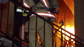 Two Houston firefighters injured after falling from second floor during apartment fire
