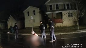 Daniel Prude: Bodycam video in Black man's suffocation shows Rochester cops put 'spit hood' on him