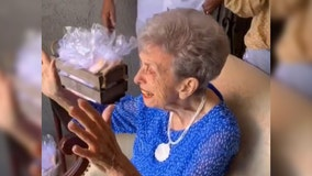 Grandmother surprised with socially distanced parade days before heart procedure