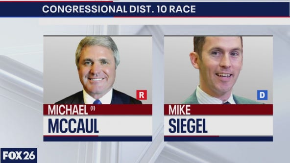 The candidates in CD 10 McCaul and Siegel