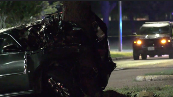 Driver dies after crashing into tree in southwest Houston