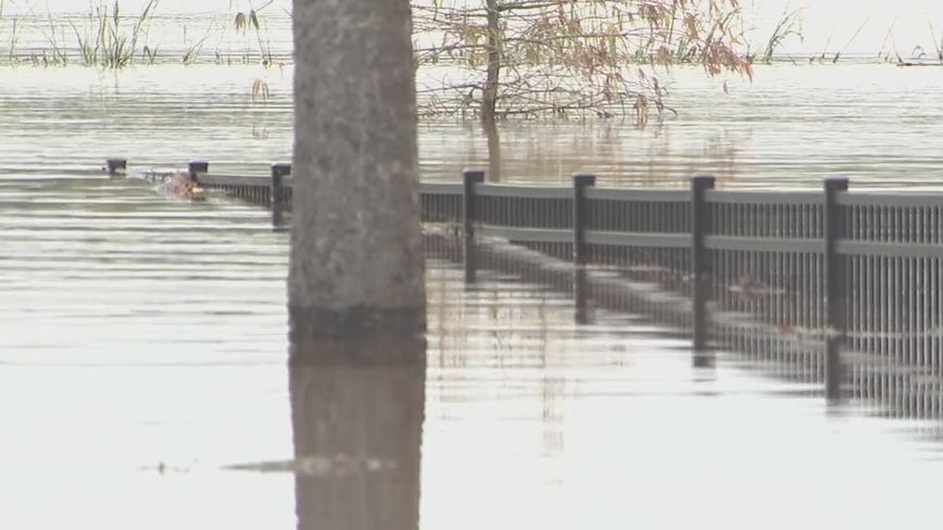 Residents near Clear Creek on standby for possible evacuation as Beta rains continue