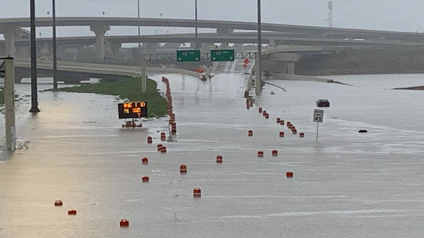 Houston officials urge public to avoid driving after Beta floods roads