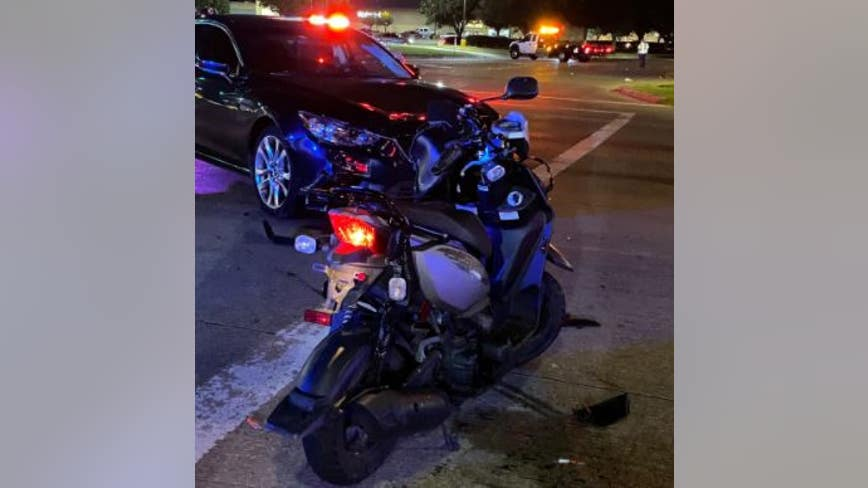 Scooter driver airlifted to hospital after crash involving car in West Harris Co.