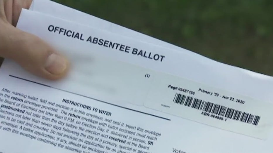 absentee mail-in ballot vote