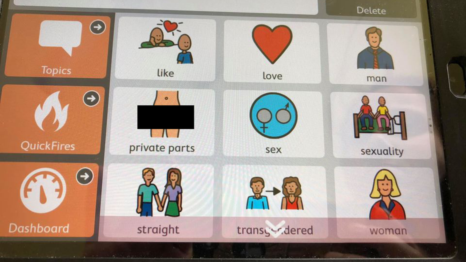 A social media user shared this screen shot of icons found on the application. (Credit: Justin Ellison)