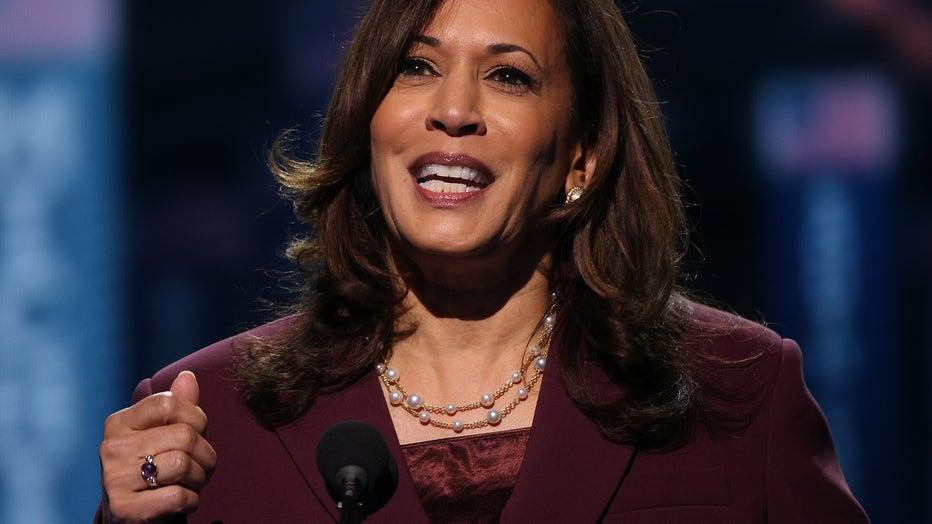 8013dd4c-Vice Presidential Nominee Kamala Harris Addresses Virtual DNC From Delaware