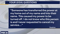 Your Legal Questions - Handwritten will; power turned off