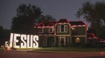 Richmond woman displays giant Jesus sign in front of her house