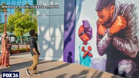 Houston artist in national spotlight for tribute to Chadwick Boseman
