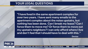 Your Legal Questions: Noisy apartment neighbors, failure to appear, rock broke window
