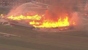 Massive fire burns apartment complex under construction in west Harris Co.