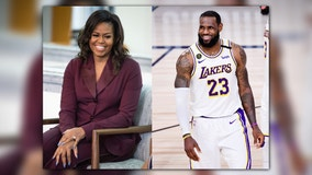 Michelle Obama teams with LeBron James to help boost early voting