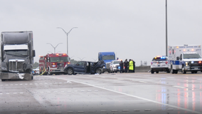 Deadly crash involving 18-wheeler and three other cars on Sam Houston Pkwy