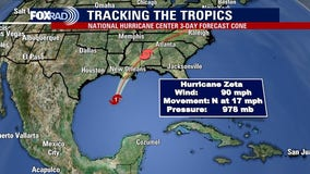 Zeta makes landfall in Louisiana as category 2 hurricane