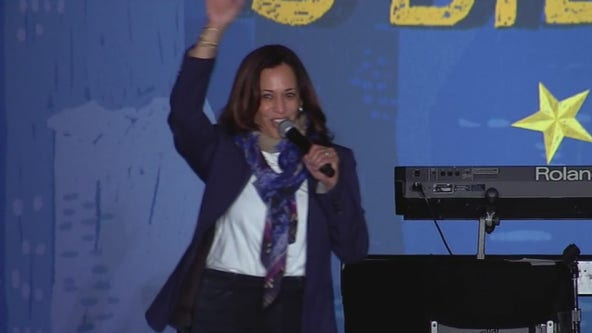 Vice Presidential Candidate Kamala Harris makes campaign stop in Houston
