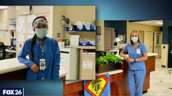 Mother and daughter nurses working through pandemic together