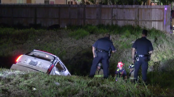 Suspect facing murder charges after flipping into bayou during deadly car chase