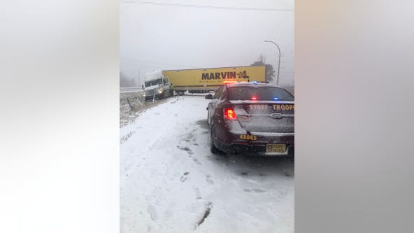 State Patrol reports 493 crashes, 614 spinouts as fall snowstorm hits Minnesota