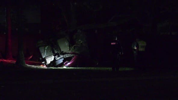 HCSO: Driver died after crashing into tree during pursuit in west Harris Co.