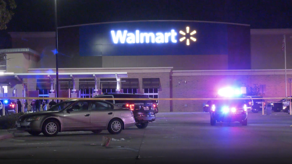 Suspect shot in leg while fighting Houston police officer in Walmart parking lot