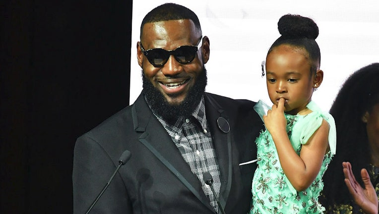 Lebrong James and daughter