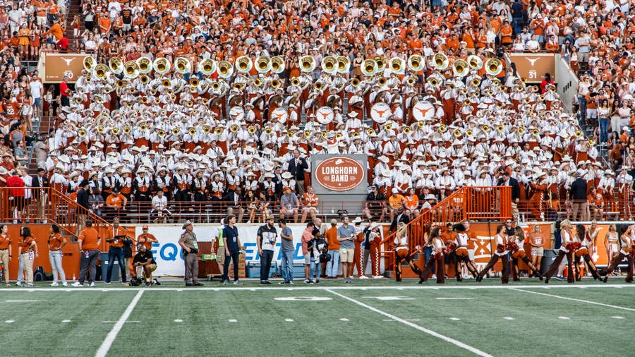 """UT Longhorn band won't play """"The Eyes of Texas"""" this weekend after some members say they're unwilling"""