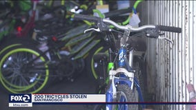 200 tricycles stolen from SF firefighters were to be kids' gifts