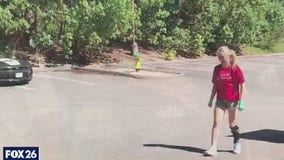 Student playing volleyball again after losing half her foot in ATV accident