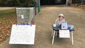 6-year-old gives lesson on civics to his friends with homemade voting booth