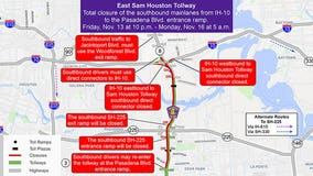 Portion of East Sam Houston Tollway to close this weekend