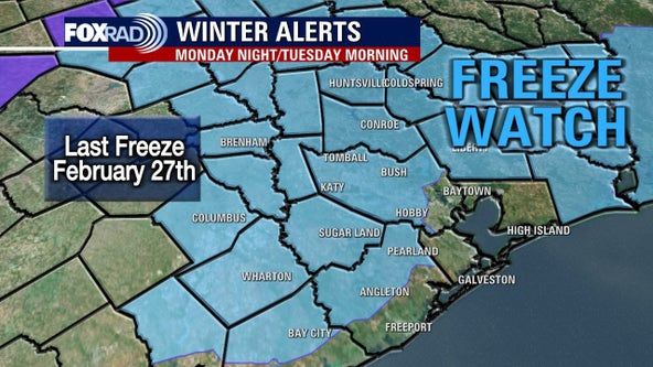 Freeze Watch in effect for majority of FOX 26 viewing area