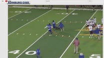 Texas high school football player plows into referee