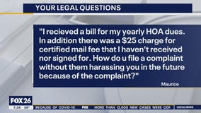 Your Legal Questions: Water meter, HOA fee, working from home