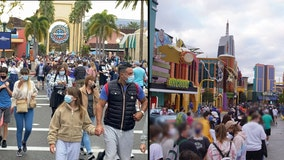 Universal hits capacity 10 minutes after opening as crowds pack in