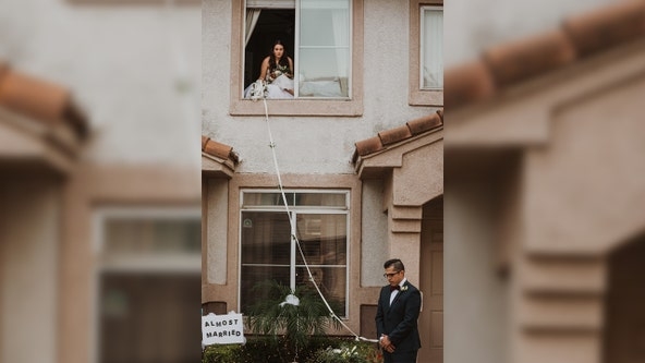 In sickness and in health: Couple exchanges vows through window after bride contracts COVID-19
