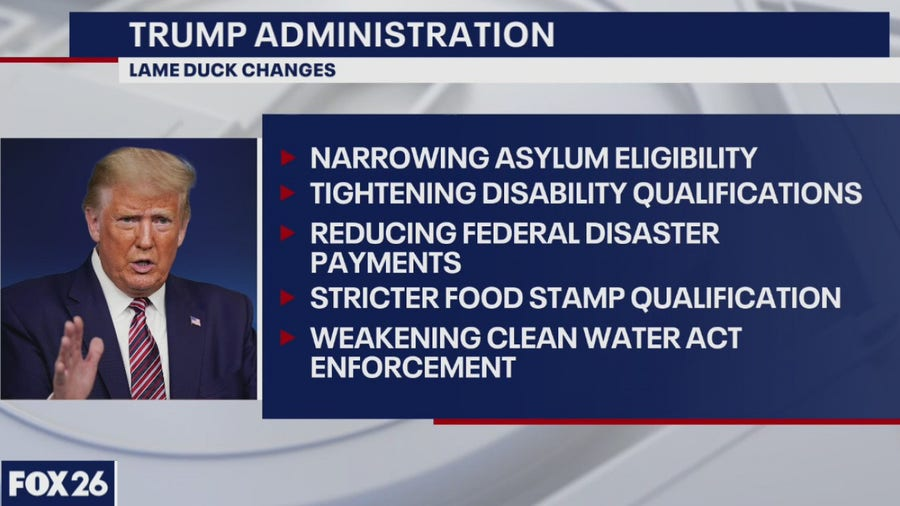 The Trump administration is changing the rules in the last few days - What's Your Point?