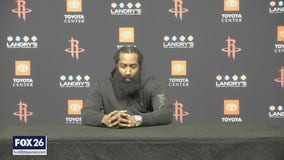 Harden says Rockets 'just aren't good enough' before abruptly ending news conference