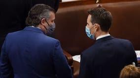 Third-ranking Senate Democrat urges Sens. Ted Cruz, Josh Hawley to resign