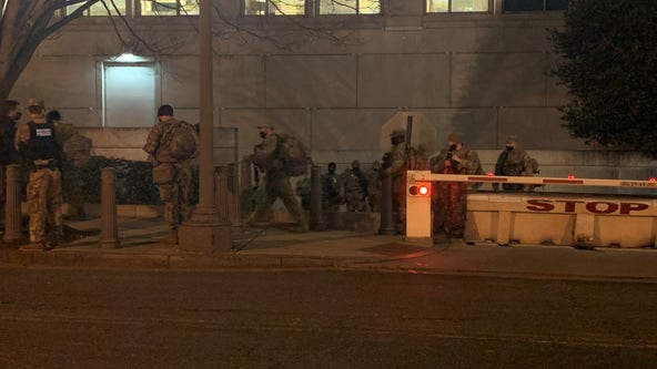 National Guard troops forced out of Capitol, relocated to nearby parking garage
