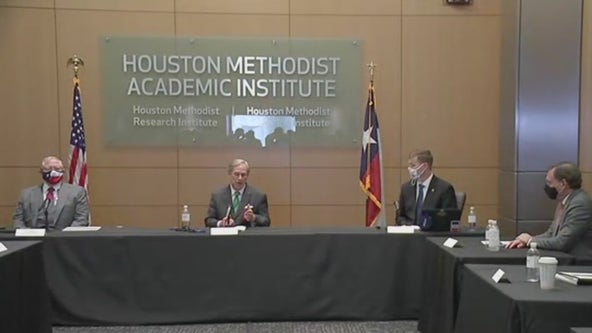 Governor Abbott visits Houston hospital, does not invite county or city health leaders