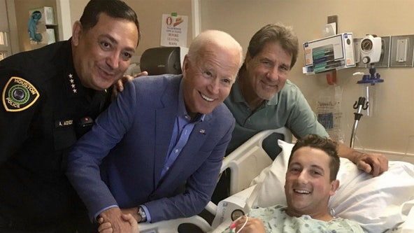 Houston officer shot after presidential debate at TSU was secretly visited by Biden