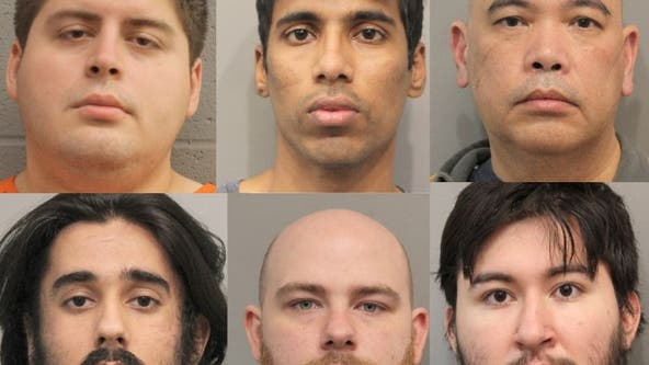 Six men charged with solicitation of minors in Houston-area